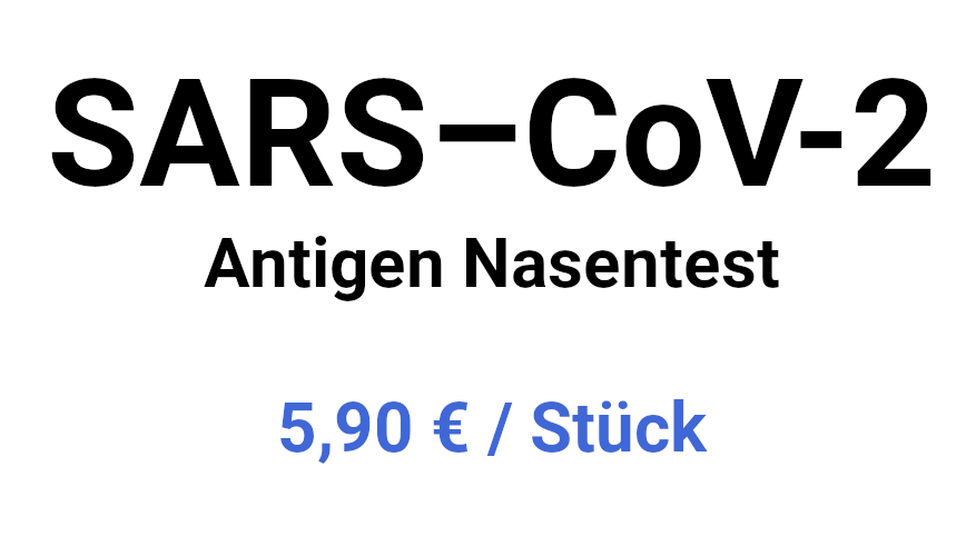 Antigen Nasentest 5,90€ / Stück